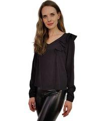blusa juana negra jacinta tienda