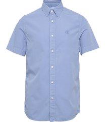 gmd 40' poplin ss shirt kortärmad skjorta blå calvin klein jeans