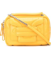 pierre hardy stitched panel crossbody bag - yellow