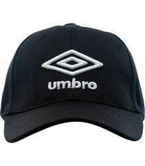 gorra negra umbro logo 3d hombre negro