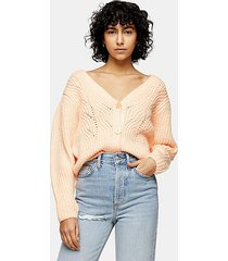 apricot knitted cardigan - apricot