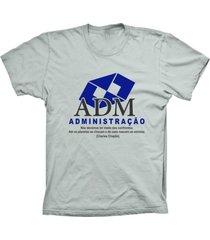 camiseta baby look lu geek administração prata