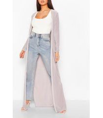 maxi slinky side split kimono, light grey