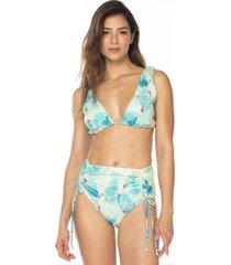 vestido de baño bikini estampado sublime dos piezas ajustable-menta