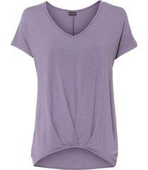 maglia in jersey con scollo a v (viola) - bodyflirt