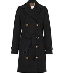 burberry the short islington trench coat - black