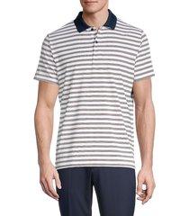bonobos golf men's slim-fit striped golf polo - white lake - size xl