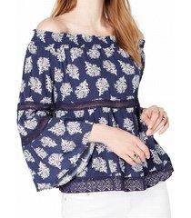 blouse knit off shoulder