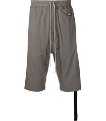 rick owens drkshdw drawstring drop-crotch shorts - neutrals