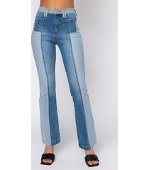 akira multi side of me high rise flare jeans