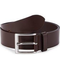boss hugo boss men's umbe leather belt - dark brown - size 38