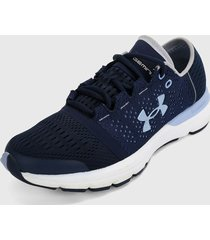 tenis running azul-blanco under armour speedform slimgwrap