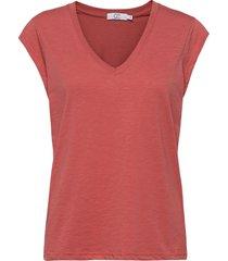 basic tee w. v-neck t-shirts & tops short-sleeved röd coster copenhagen