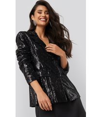 na-kd party sequin blazer - black