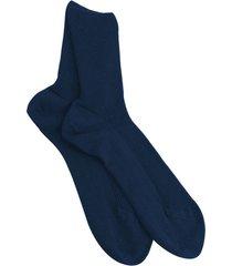 pak van 3 paar katoenen sokken zonder elastiek, marineblauw 37/38