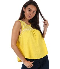brave soul womens embroidered top size 14 in yellow