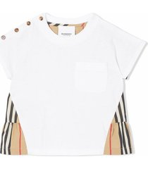 burberry beige and white cotton t-shirt