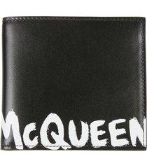 alexander mcqueen logo wallet