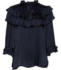 ada blouse lange mouwen zwart stella nova
