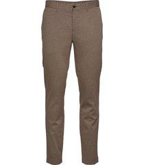chaze flannel twill pants kostuumbroek formele broek bruin j. lindeberg