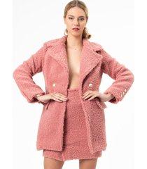 abrigo rosé casual urbano rosa palo kimonada