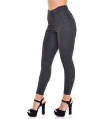 calã§a jeans dialogo jegging cintura alta preta - unico - feminino - algodã£o - dafiti