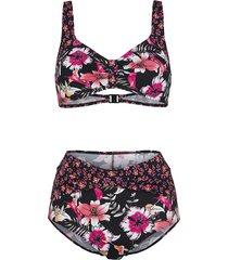 bikini maritim zwart::oranje::pink