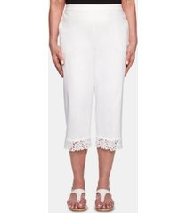 alfred dunner cayman islands lace-hem pull-on capri pants