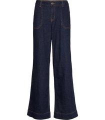 dhmay high flared custom jeans utsvängda blå denim hunter