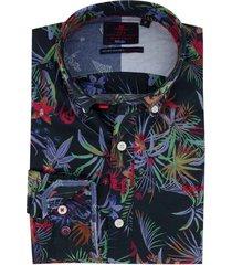 overhemd new zealand navy bloemen wainuioru