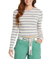 dickies striped long-sleeved logo t-shirt