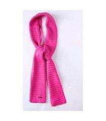 cachecol tricot infantil para menina - rosa pink