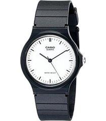 reloj analógico hombre casio mq-24-7e - negro con blanco
