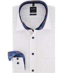 olymp luxor shirt wit mouwlengte 7 modern fit