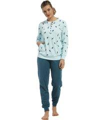 dames badstof pyjama pastunette 20212-144-4-46