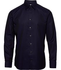 black & navy jacquard shirt overhemd business blauw eton