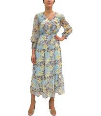 sam edelman floral-print chiffon maxi dress