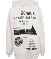 prada symbols print hoodie