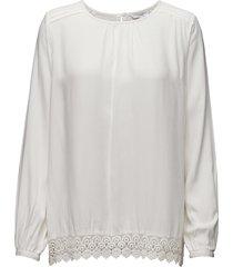 sebina blouse lange mouwen wit signal