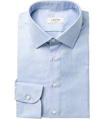 camicia da uomo su misura, canclini, azzurra oxford, quattro stagioni   lanieri