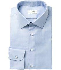 camicia da uomo su misura, canclini, azzurra oxford, quattro stagioni | lanieri