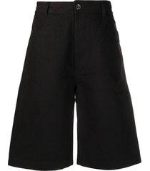 rick owens drkshdw wide leg bermuda shorts - black