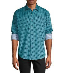 classic-fit printed shirt