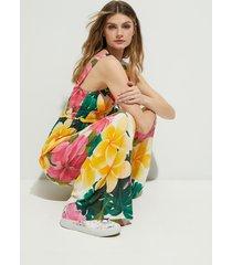 jumpsuit flowers - white - xl
