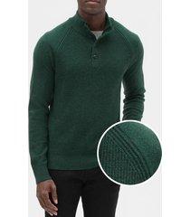 chaleco button mock hombre verde gap