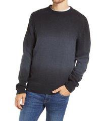 men's frame dip dye wool blend sweater, size large - black