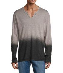 zadig & voltaire men's ombré linen t-shirt - grey - size m