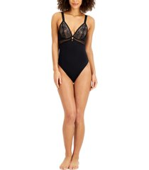 inc women's lace bodysuit, created for macy's