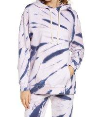 women's oli viv monroe relaxed hoodie, size small - blue