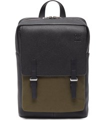 canvas panel military messenger backpack